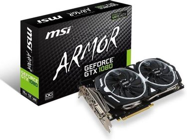MSI Geforce GTX1080 ARMOR 8G Dual Torx Fan OverClock Edition 8GB GDDR5 Graphics Card