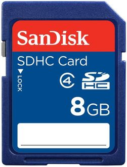 Sandisk 8GB Class 4 SDHC Memory Card