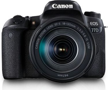 Canon EOS 77D DSLR (With 18-135mm IS USM Lens)