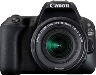Canon EOS 200D DSLR (With EF-S 18-55mm f4 IS STM Lens)