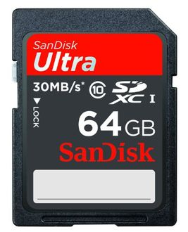 Sandisk Ultra 64GB (Class 10) 30 Mbps SDXC Memory Card