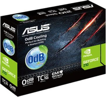 Asus NVIDIA GeForce EN210 Silent 1GB DDR3 Graphics Card