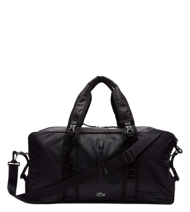 Lacoste Black Match Point Sports Large Duffle Bag