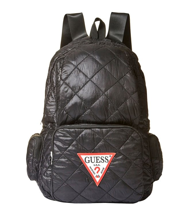GUESS Black Just4fun Medium Quilted Backpack